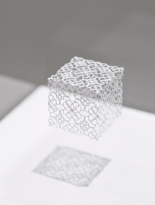 "Ashley YK Yeo, Singapore ""Arbitrary Metrics II"", hand cut paper, dimensions variable (2015)"