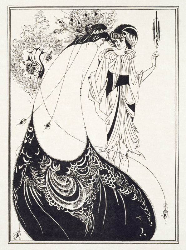 Aubrey Beardsley, 'The Peacock Skirt', 1894, Line block print on Japanese vellum paper (c) Victoria and Albert Museum, London