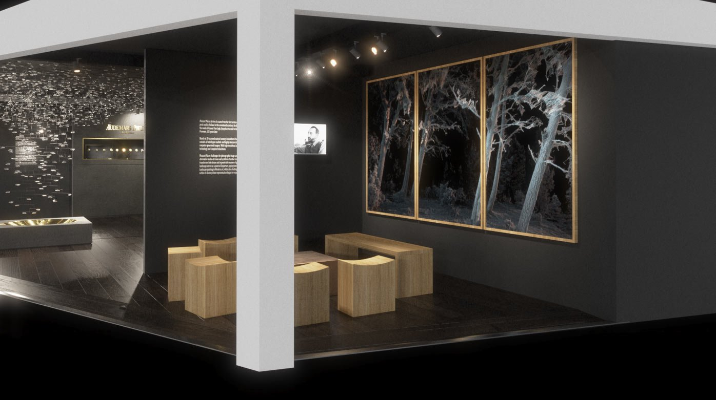 Vue du stand Audemars Piguet, Art Basel, Sebastian Errazuriz et Quayola, Courtesy of Audemars Piguet