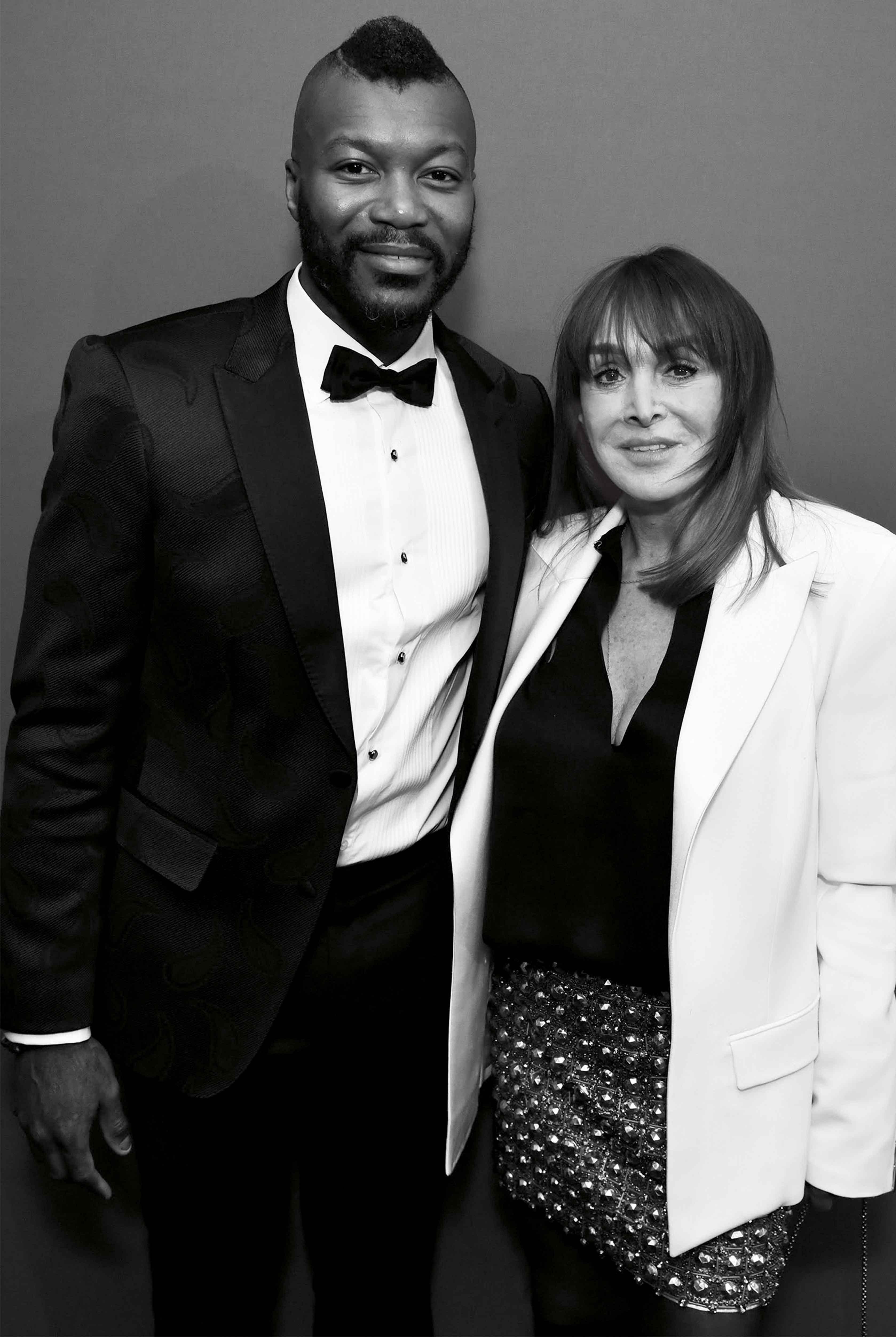 Djibril Cissé et Babeth Djian