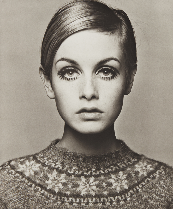 "Barry Lategan ""Twiggy"" 1966 Platinum palladium print, printed 2012. 23 1/4 x 19 1/2 in. (59.1 x 49.5 cm)"