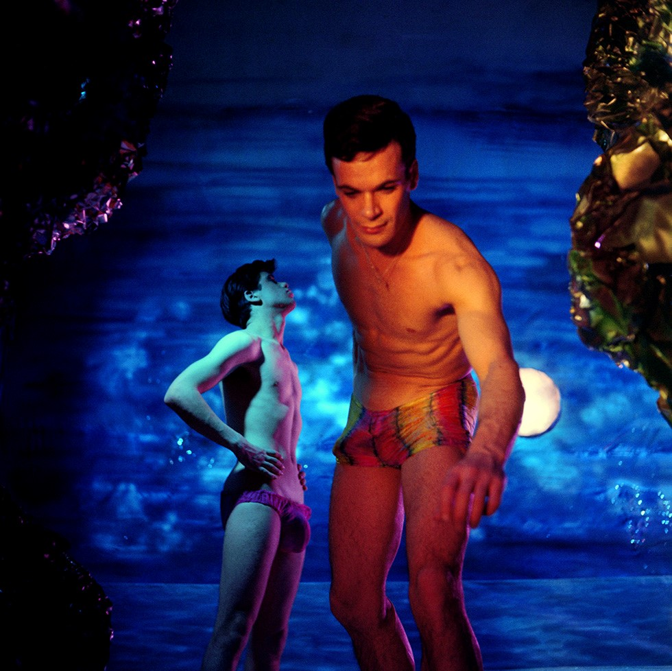 James Bidgood, Star Gazing, Sandcastles, early 1960s, digital C-Print. Courtesy of ClampArt, New York