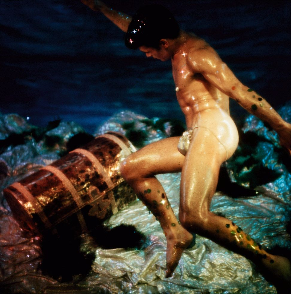 James Bidgood, Trunk, Water Colors, early 1960s, digital C-Print. Courtesy of ClampArt, New York