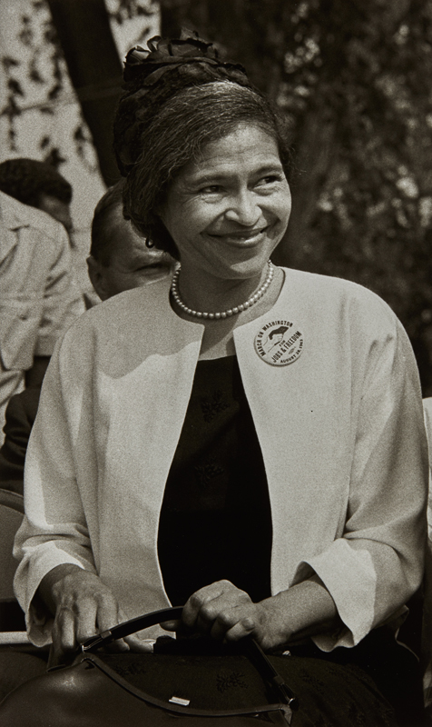 "Bob Adelman ""Rosa Parks, March on Washington"", August 1963 Gelatin silver print, printed 2007. 18 1/4 x 11 in. (46.4 x 27.9 cm)"