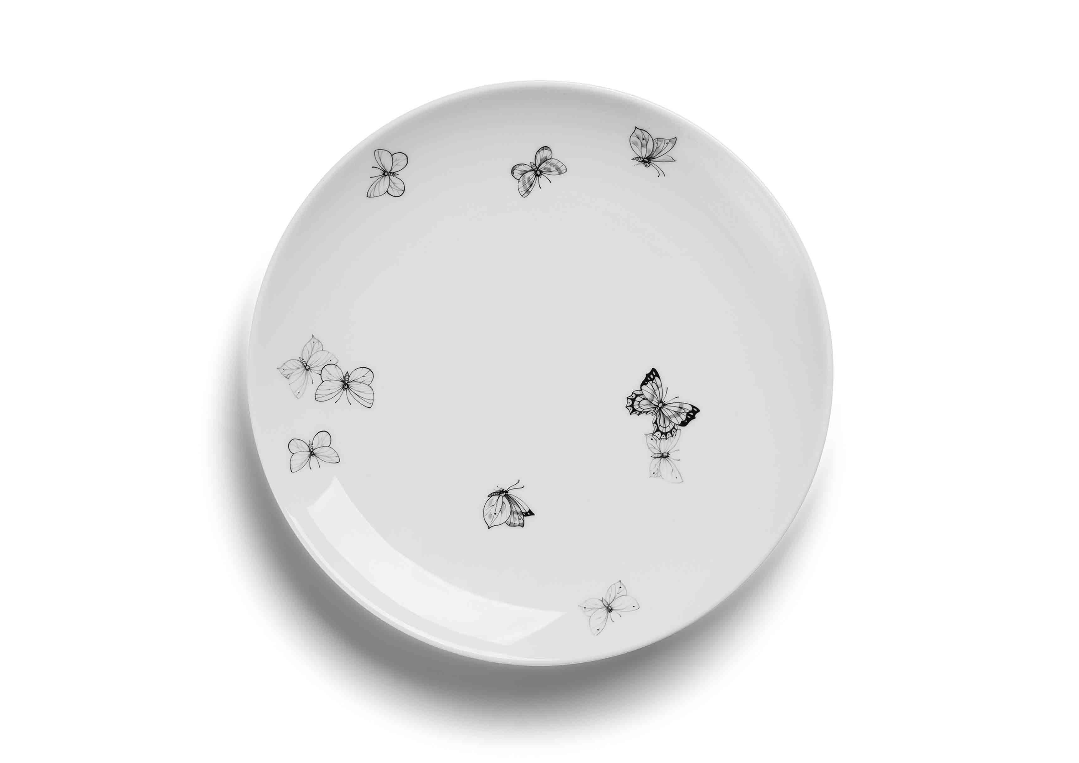 Assiette en porcelaine blanche issue de la nouvelle collection Maison de Bottega Veneta, à l'occasion du Salone del Mobile de Milan.