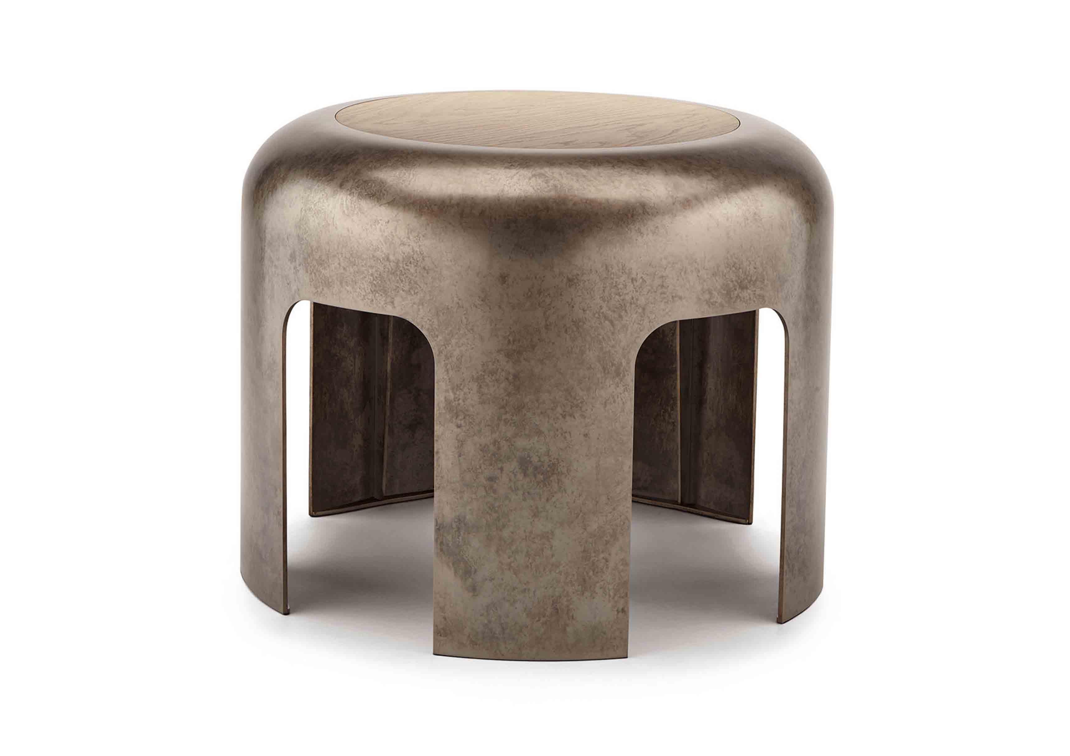Tabouret issu de la nouvelle collection Maison de Bottega Veneta, à l'occasion du Salone del Mobile de Milan.