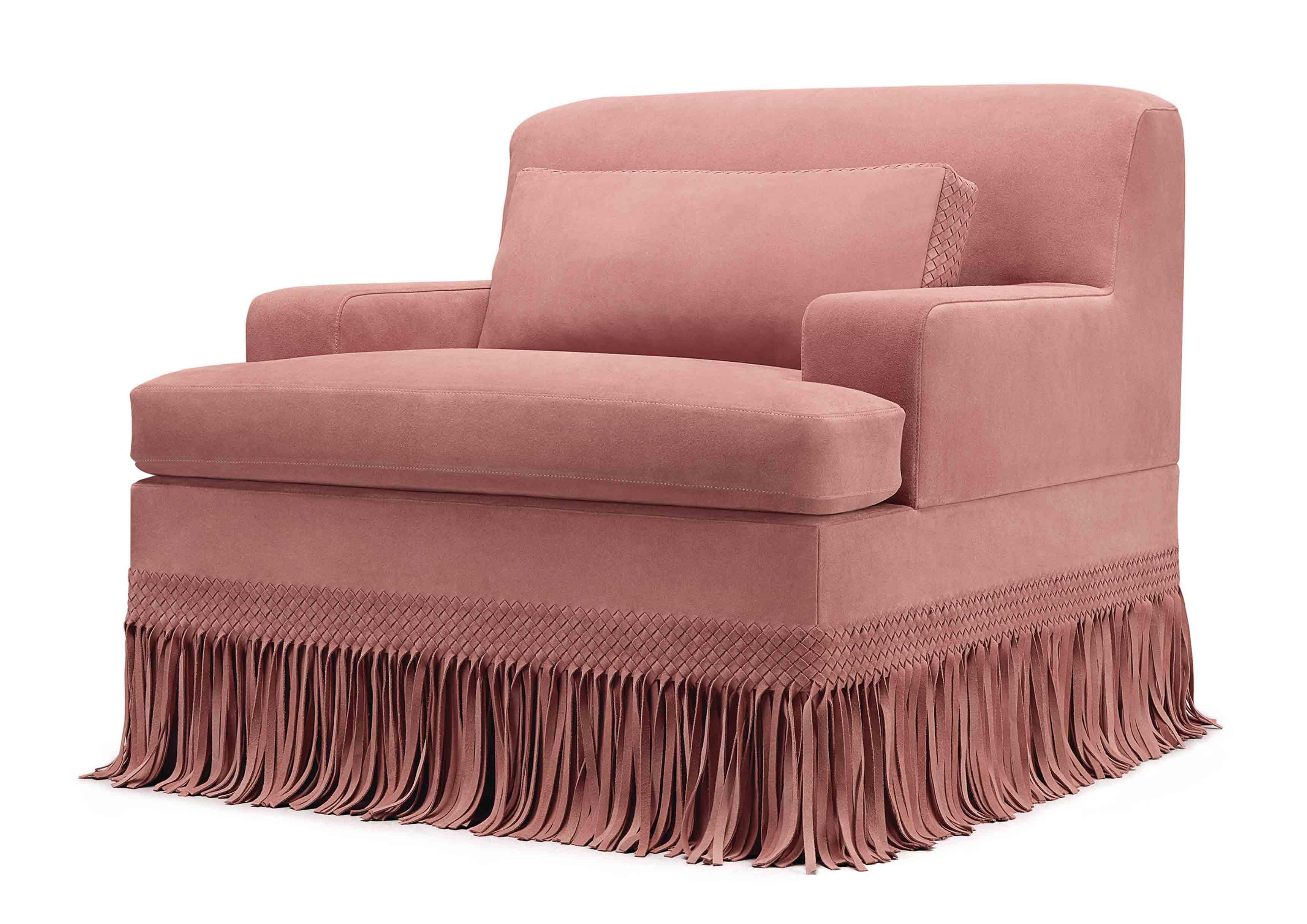 Fauteuil issue de la nouvelle collection Maison de Bottega Veneta, à l'occasion du Salone del Mobile de Milan.