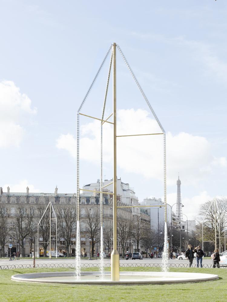 Les fontaines des Champs-Élysées, Ronan et Erwan Bouroullec, © Claire Lavabre, Studio Bouroullec.