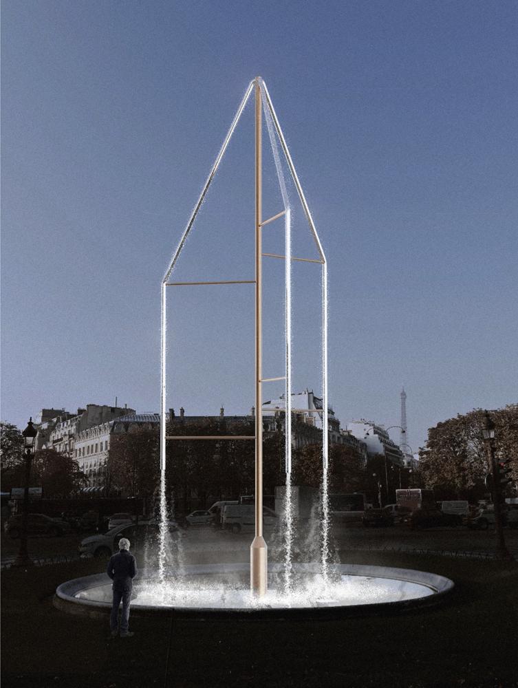 Les fontaines des Champs-Élysées, images préparatoires, Ronan et Erwan Bouroullec, © Studio Bouroullec.