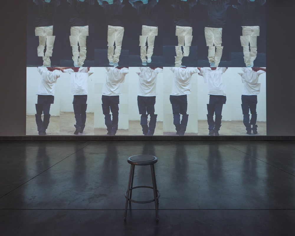 """Bruce Nauman, """"Contrapposto Studies, I through VII"""" (2015-16). Pinault Collection and Philadelphia Museum of Art. © Bruce Nauman / Artists Rights Society (ARS), New York"""