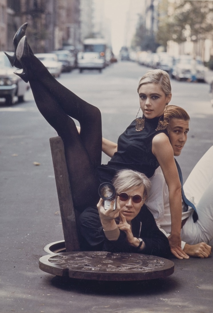 "Burt Glinn (1925-2008), ""Andy Warhol with Edie Sedgwick and Chuck Wein, New York"", 1965"