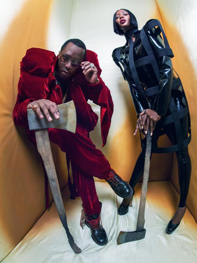 """Sean """"Diddy"""" Combs et Naomi Campbell (les bourreaux) par Tim Walker pour le calendrier Pirelli 2018"""