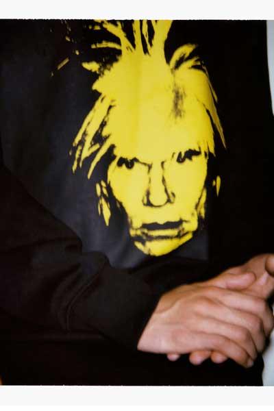 """Motif de la collection capsule Calvin Klein Jeans x Andy Warhol Foundation, """"Self Portaits""""."""