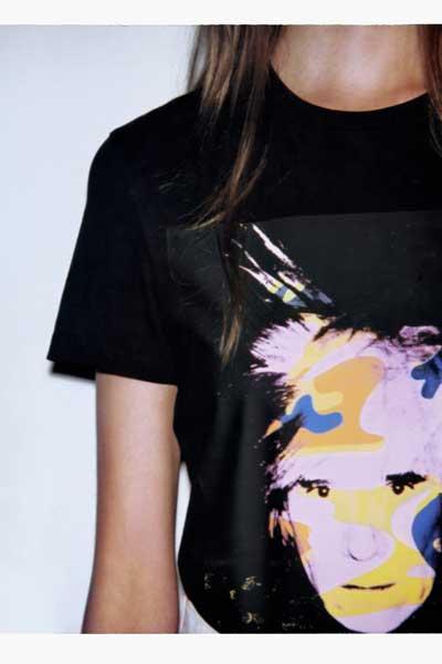 """T-shirt de la collection capsule Calvin Klein Jeans x Andy Warhol Foundation, """"Self Portaits""""."""