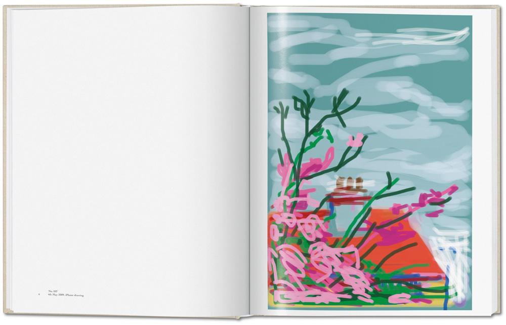 """No. 764"", 13th April 2011, iPhone drawing. ""My Window"" de David Hockney (ed. Taschen)"