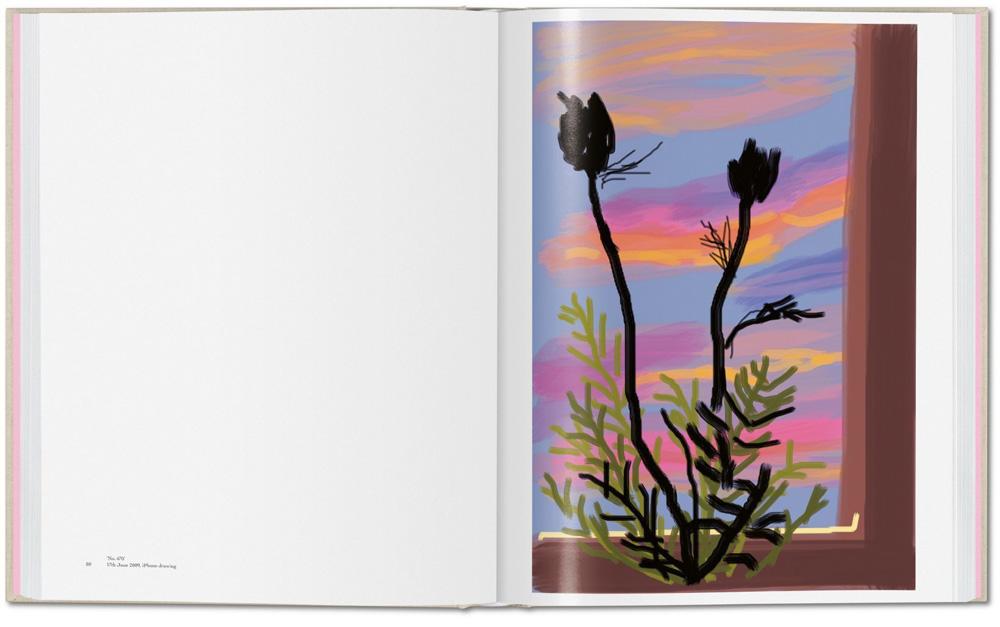 """""""No. 470"""", 17 th June 2009, iPhone drawing. """"My Window"""" de David Hockney (ed. Taschen)"""