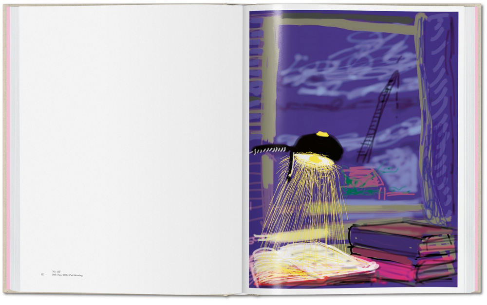 """No. 133"", 28th May 2010, iPhone drawing. ""My Window"" de David Hockney (ed. Taschen)"