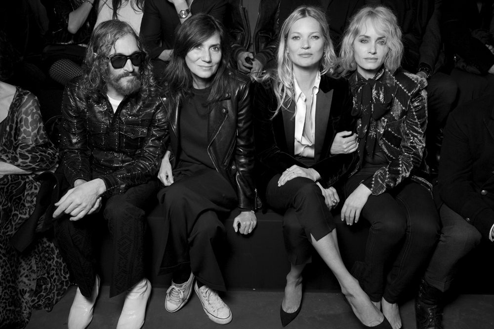 Vincent Gallo, Emmanuelle Alt, Kate Moss et Amber Valletta.