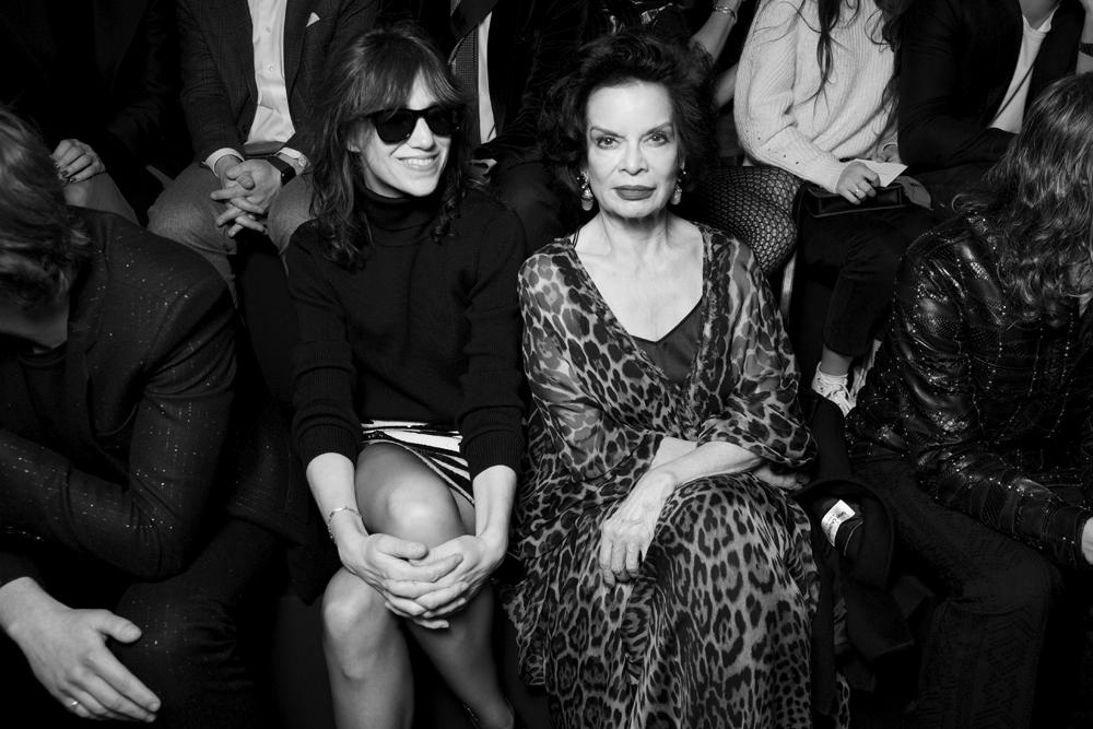 Charlotte Gainsbourg et Bianca Jagger.