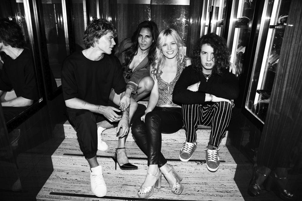 Jordan Barrett, Laurie Lynn Stark, Georgia May Jagger et Lucas Jagger