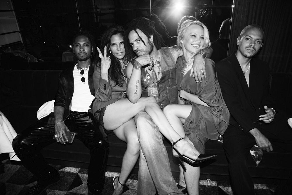 Miguel, Laurie Lynn Stark, Lenny Kravitz , Pamela Anderson et Evan Ross