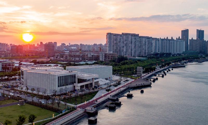 Vue du Centre Pompidou x West Bund Museum Project, à Shanghaï.