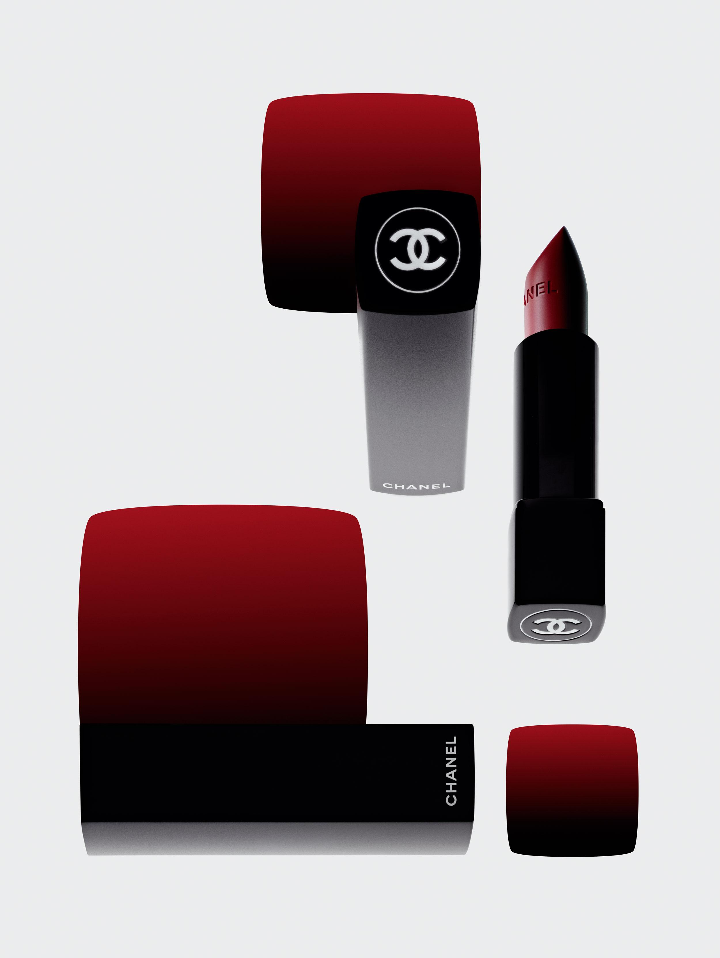 """""""Rouge Allure Velvet Extrême"""", n° 112 idéal, CHANEL."""