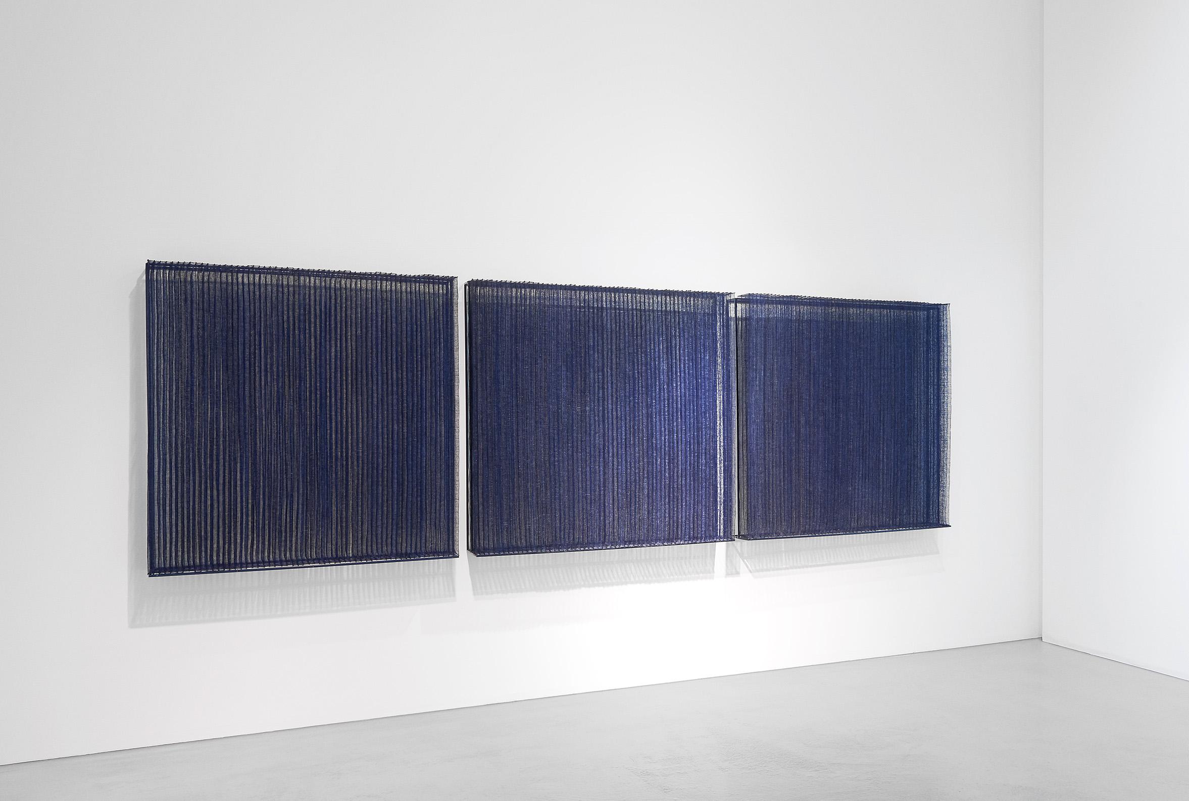 "Yeonsoon Chang, Republic of Korea ""Matrix III Time, Space, Human – 1,2,3"", abaca fiber, dimensions variable (2016)"