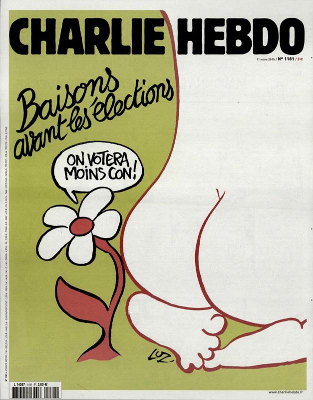 Charlie Hebdo, une du 11 mars 2015