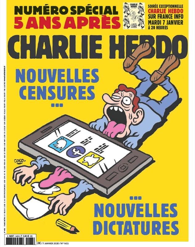 Charlie Hebdo, une du 7 janvier 2020