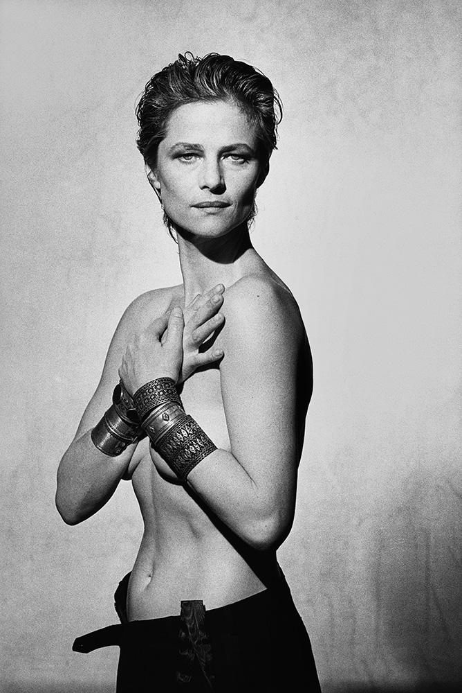 Charlotte Rampling, 1987. Peter Lindbergh.