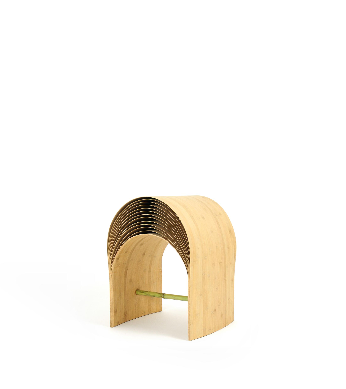 "Min Chen, China ""Hangzhou Stool"", bamboo, 420 x 480 x 530 mm (2013)"
