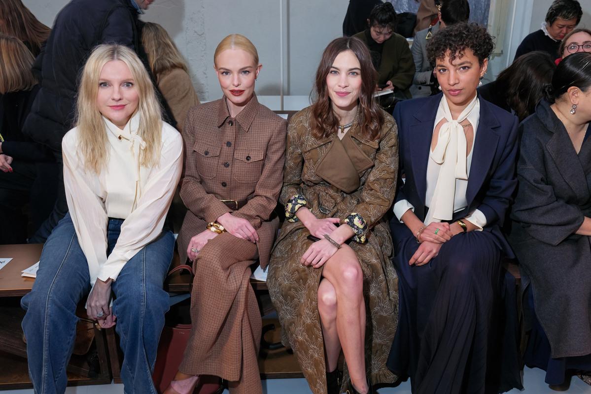 Laura Brown, Kate Bosworth, Alexa Chung et Phoebe Collings James