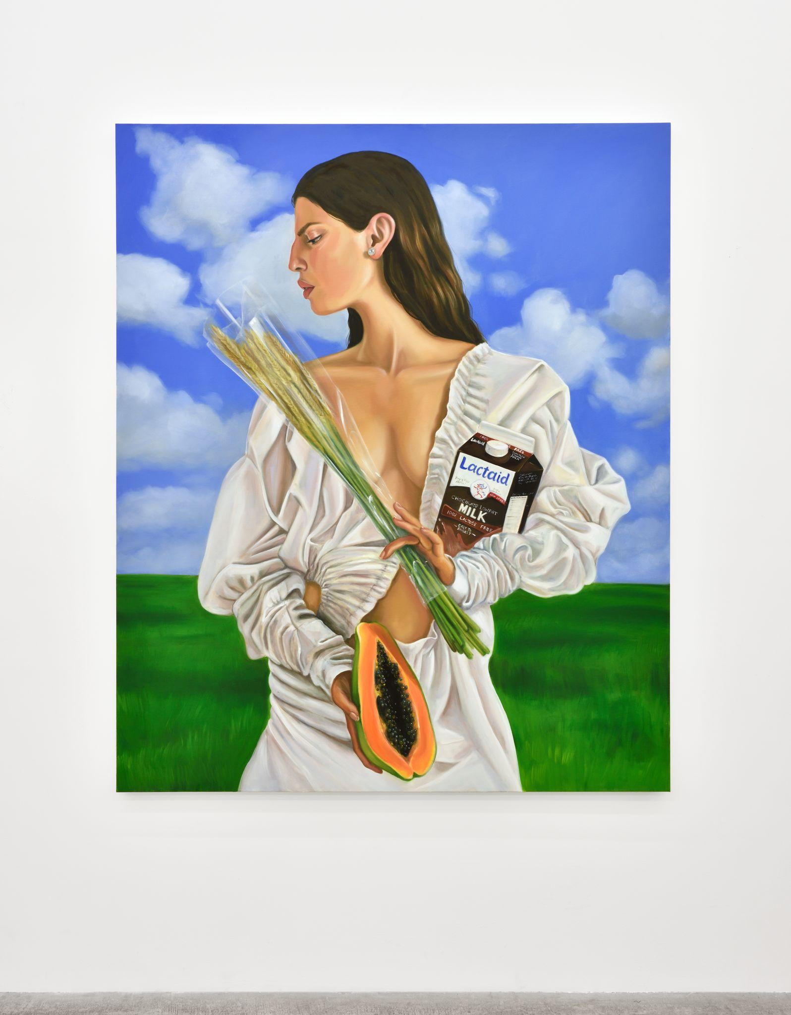 Gluten Freedom, 2017. Oil on canvas, 182,9 x 152,4 cm