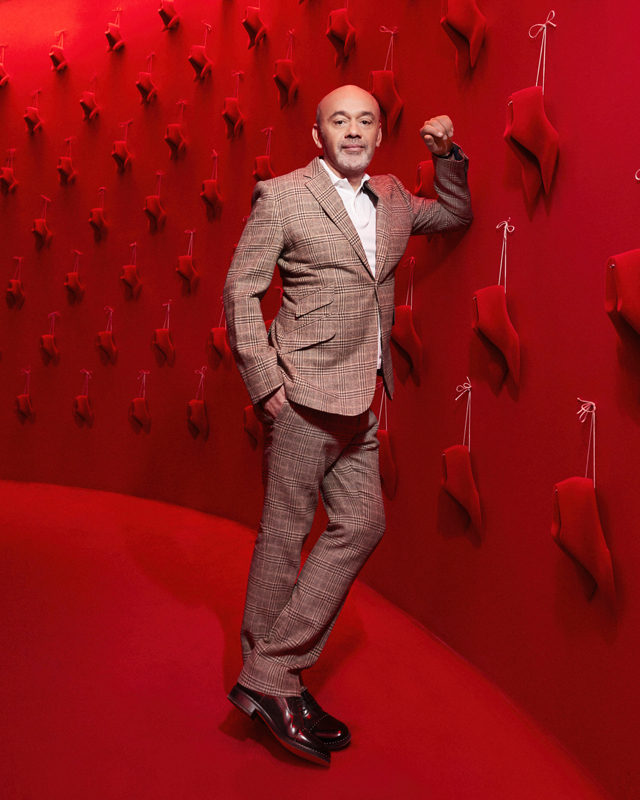 Christian Louboutin in the Exhibition[niste] exhibition © Courtesy of Christian Louboutin