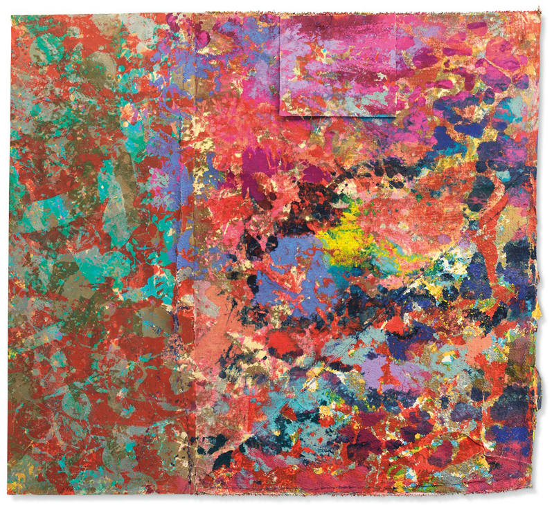 "Sam Gilliam, ""Blowing Cool Red 4"" (1974)"
