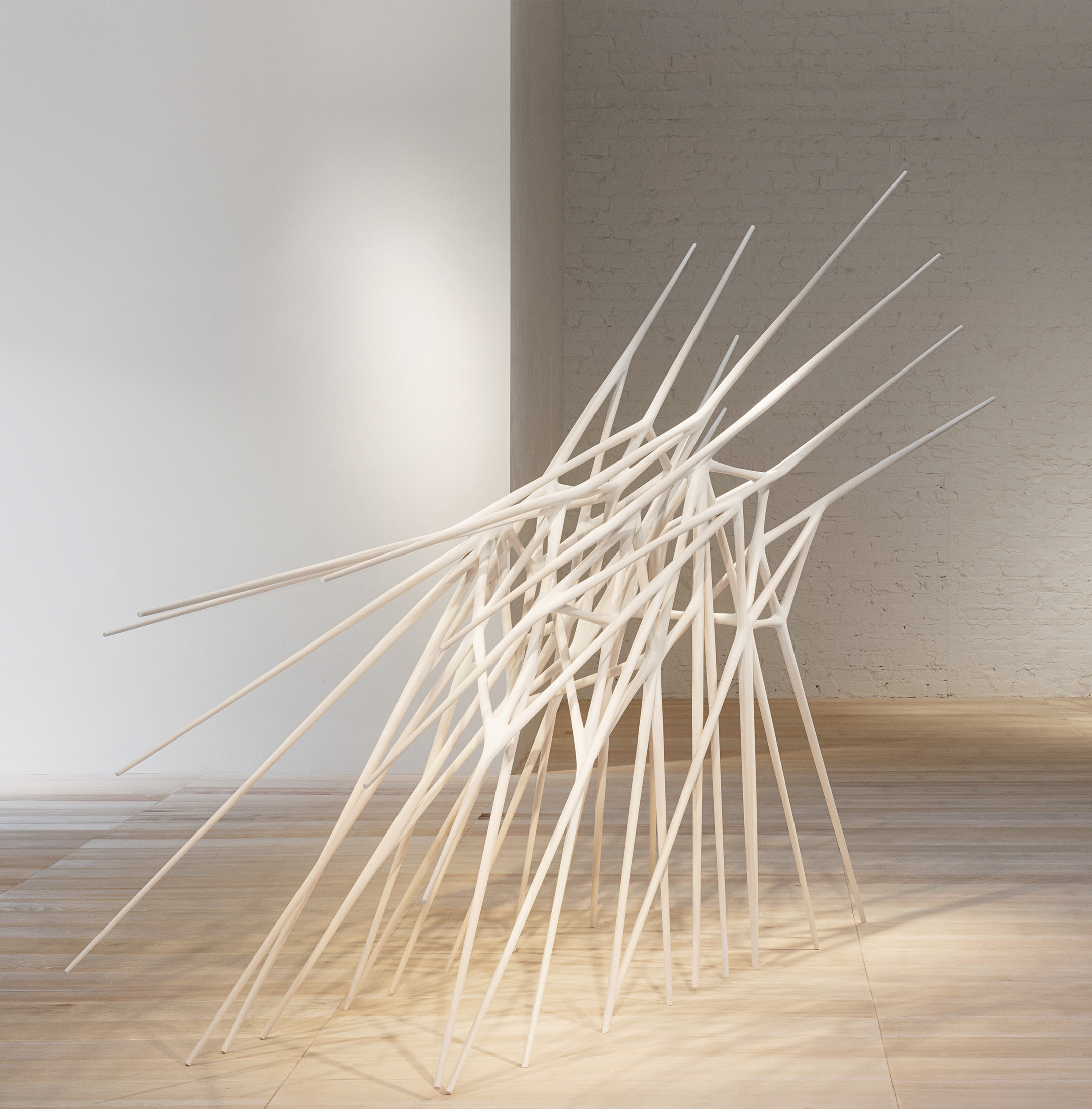 "Christopher Kurtz, United States ""Singularity"", hand-carved basswood and milk paint, 914 x 3657 x 2057 mm (2012)"