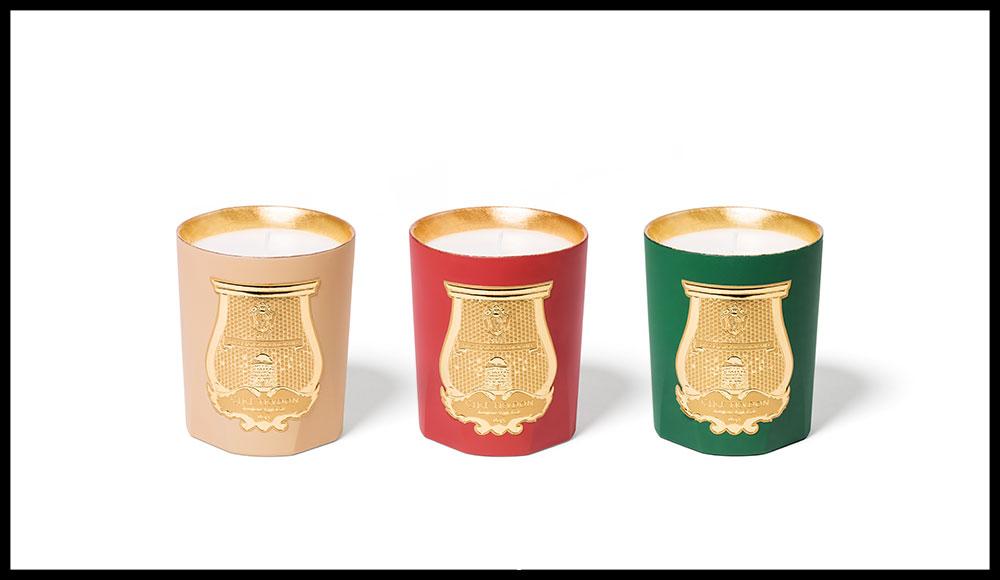 La belle maison célèbre cette année l'ambre et l'encens traditionnel japonais autour de trois créations, Hôshi, T'en et Hikari. Odeurs d'Hiver 2017, TRUDON. 75 euros la bougie de 270 g.