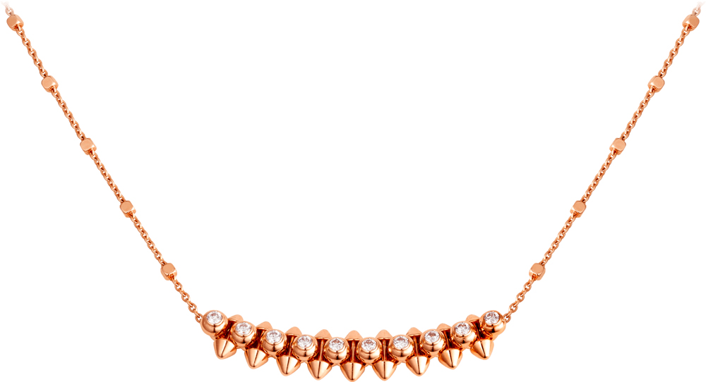 Collier Clash de Cartier, or rose et diamants.