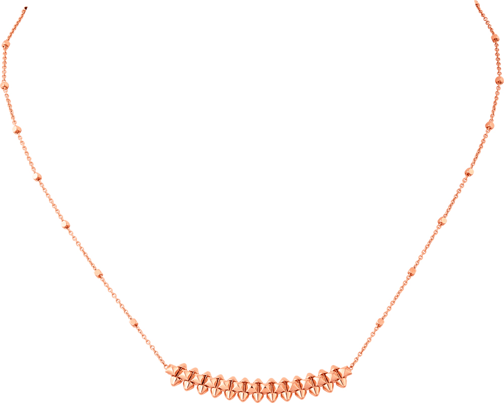 Collier Clash de Cartier, or rose.