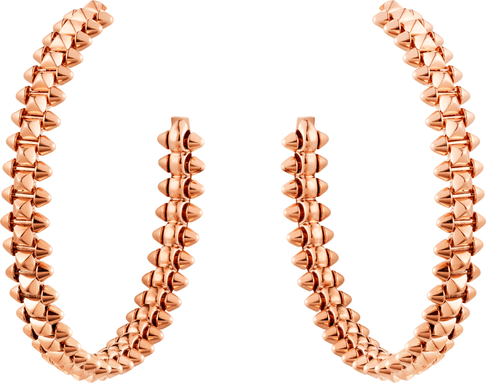 Boucles d'oreilles Clash de Cartier, or rose.