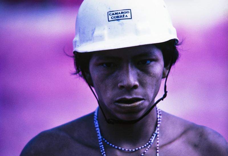 Yanomami sur le chantier de la route Perimetral Norte, Roraima, 1975.