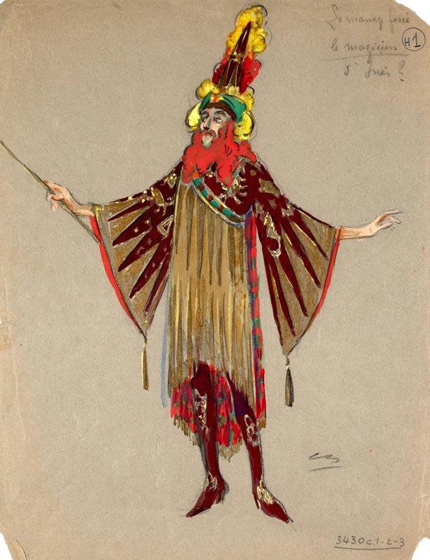 """""""Le Magicien Forcé"""" 1922, Le Magicien ©Coll. Comédie-Française"""