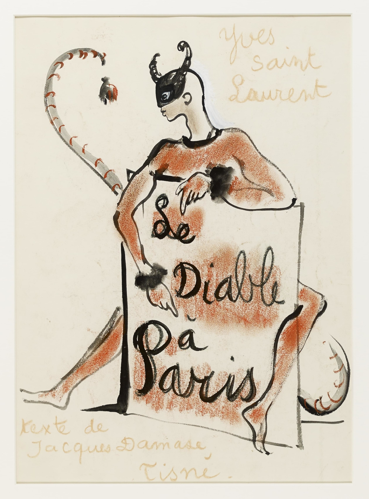 Le Diable à Paris, couverture – Jacques Damase et Yves Saint Laurent