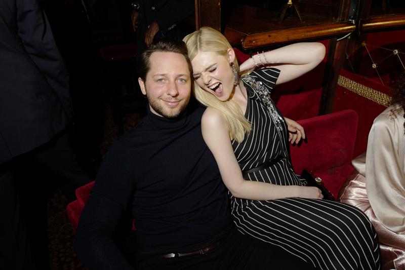 Derek Blasberg et Elle Fanning