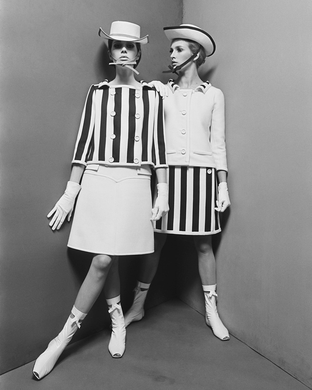 Two models - Courrèges Studio Willy Rizzo Paris 1965