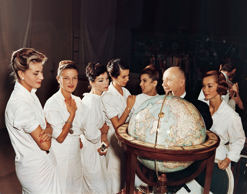 Chirstian Dior et ses modèles