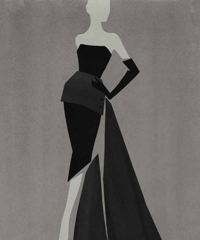 Robe fendue Dior de 1949 par Mats Gustafson