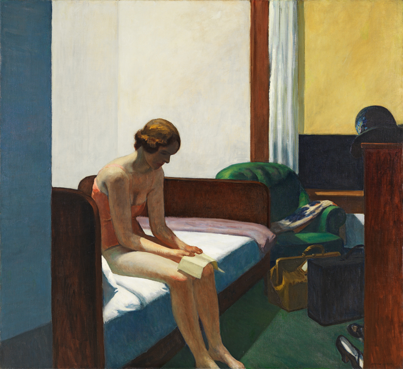 "Edward Hopper, ""Hotel Room"" (1931)  © 2019 Heirs of Josephine N. Hopper / Artists Rights Society (ARS), NY"