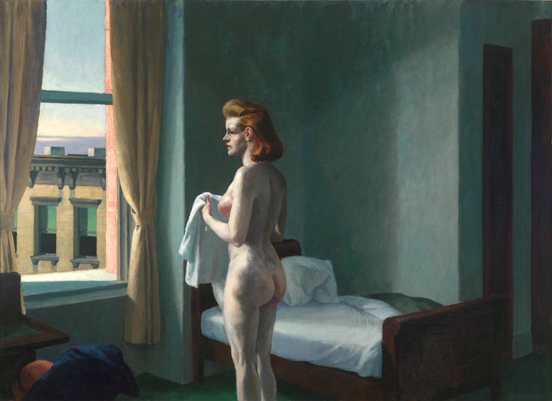 "Edward Hopper, ""Morning in a City"" (1944) © 2019 Heirs of Josephine N. Hopper / Artists Rights Society (ARS), NY"